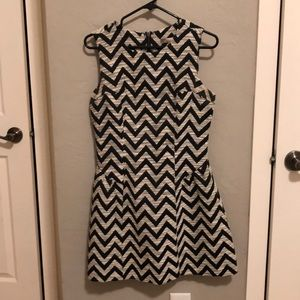 Forever 21 Adorable Holiday Chevron Dress Sz Small